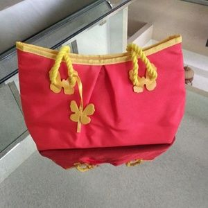Escada Orange and Yellow Shoulder Bag